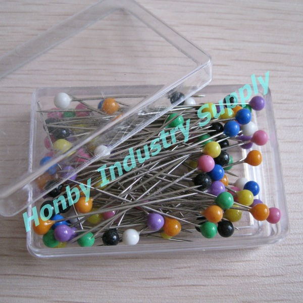 Square Box 32mm Ball Head Dressmaker Pins