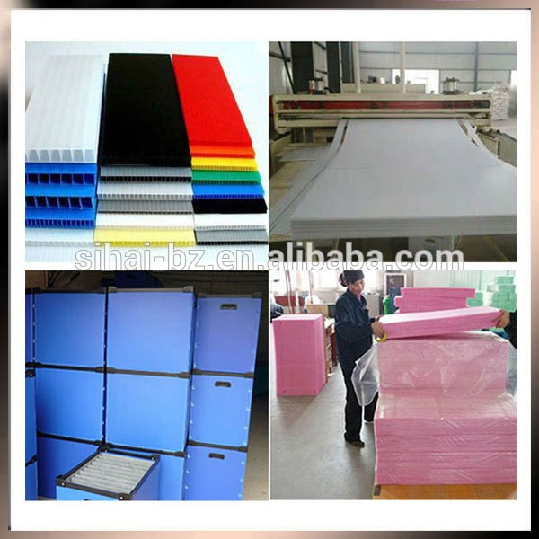 PP corflute corrugated plastic sheet advertising board