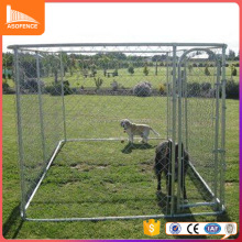 Factory price rectangular kennel run galvanized pipe dog run