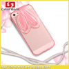 wholesale lowest price soft stand holder neck lace for iPhone5 case 2015 tpu back cover case