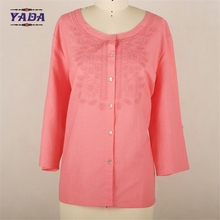 Clothing cotton top muslim women office wear ladies latest blouse designs for sale