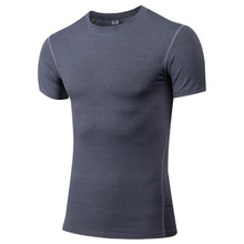 Wholesale Short Sleeve Fitness Blank Compression T Shirts Mens Gym T Shirt