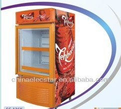 glass door upright cooler with Cassette removable cooling system,beverage display fridge showcase