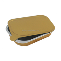 Airline smooth wall rectangle aluminum foil container