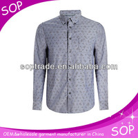 New style clothing men business long sleeve shirt printing
