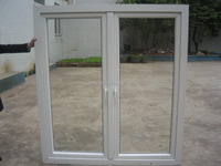 Upvc casement window two sash outside 5+9A+5doule glass Double glass sound insulation effect is good