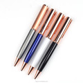 Wholesale luxury rose gold ball pen for gift with custom logo