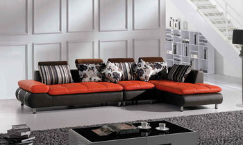Home furniture china Leather Sofa Corner Sofa 616
