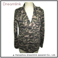 Autumn camo Brand 100%Polyester overcoat jacket for Wholesale