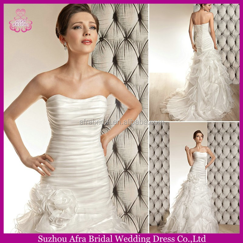 SD1158 organza simple but elegant wedding dresses cheap wedding dress 2014 vestido de noiva
