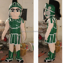 HI Guangzhou Factory Customized Green Knight Mascot Costume Anime Costumes Lyjenny Cartoon Character Halloween Costumes For Kids