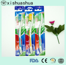Wholesale Blister Card Package Toothbrush plastic toothbrush with tongue cleaner Toothbrush Factory