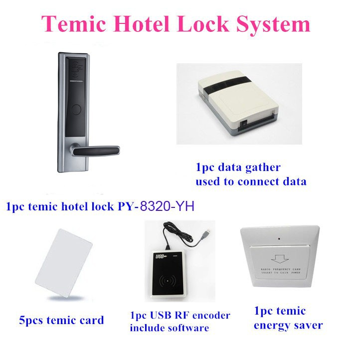 Proyu RF card hotel management system door lock with free software PY-8320-YH