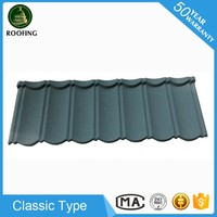 Colorful Classic metal roofing,stone coated roof tile for house design