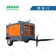 7bar diesel engine movable screw air compressor with factory price