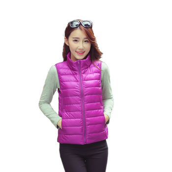 Wholesale  Casual Folding Slim Fitness Designer Women Short Goose Down Western Clothing Puff Vest