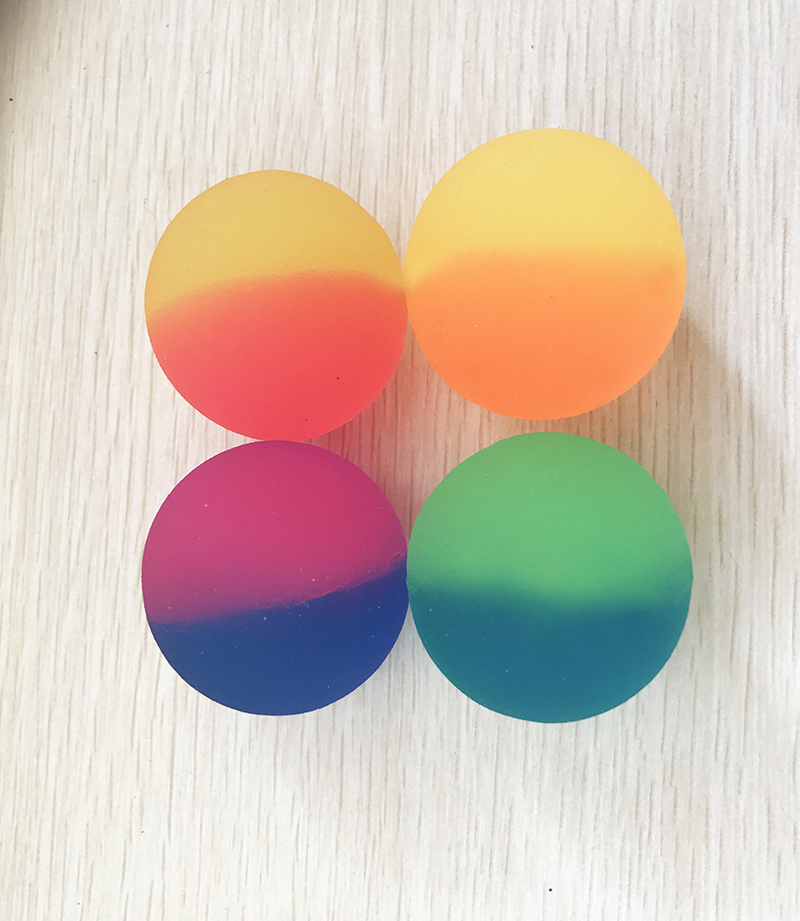 Mutli jumping big size 49mm 60mm colorful bouncy ball rubber