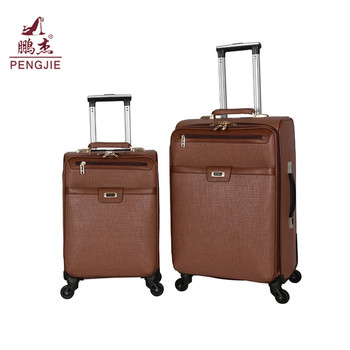 Cheap good quality pu travel bags luggage wholesale