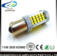 White Car 1156 Ba15s 63SMD 2835 LED Turn Signal Rear Light Bulb 12v bakeup light/turn light