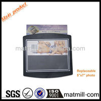 2013 new promotion pvc surface photo insert mouse pad with insertbale paper in interlayer