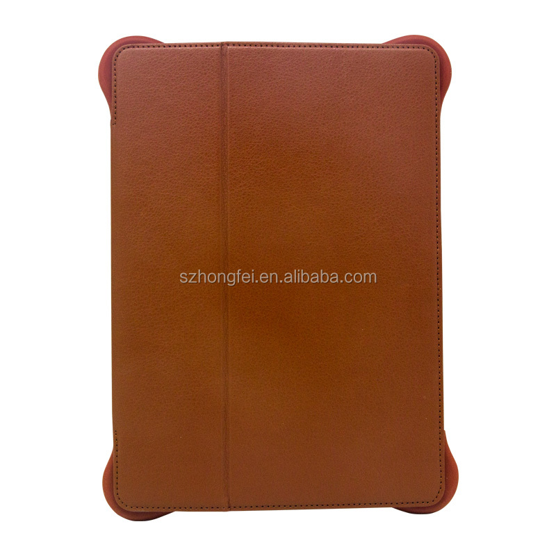 Genuine leather high quality leather case for iPad,rotatable stand leather case for iPad