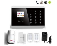 New PSTN/GSM auto dail alarm system home alarm system security door alarm