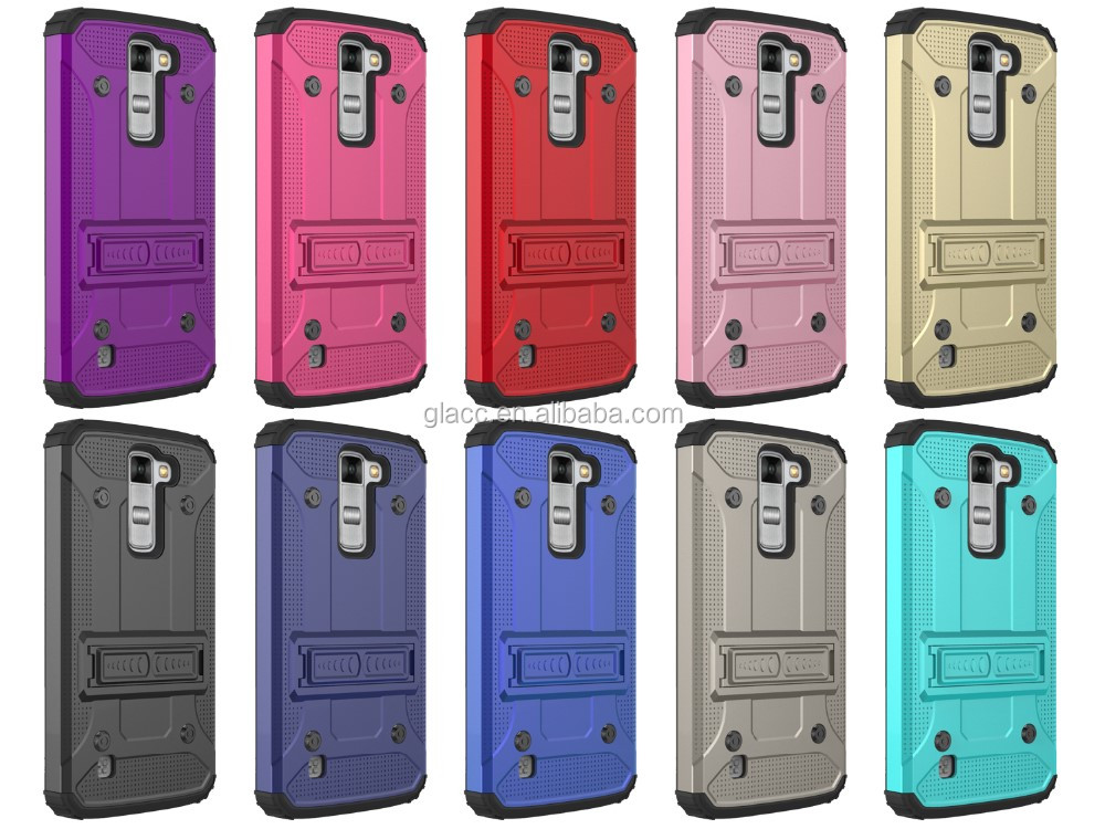 High Quality Armor Kickstand Hybrid Case for LG K8,Protective Cell Phone Accessories for LG K8