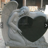 Western Style Granite Tombstone Heart Shaped