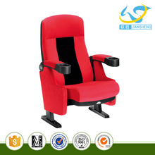 Plastic auditorium seating price cinema hall chair with PP cup holder