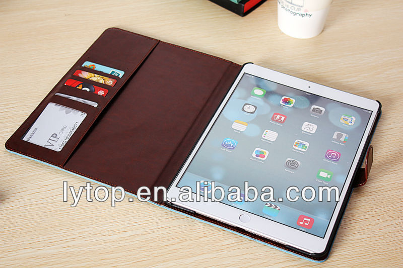 Jeans Belt Clip Holster Leather Wallet Case for Tablet iPad Air 5