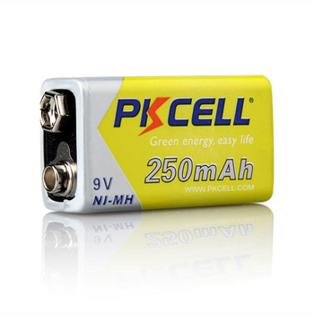 PKCELL & OEM high power type NI MH 350mah 250mAh 9v aa aaa Rechargeable Battery