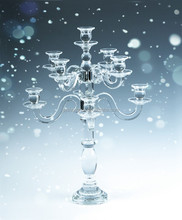 european style glass candle holder SH-006