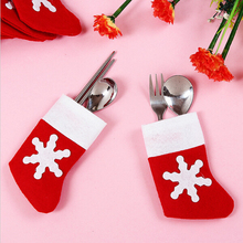 2016 popular style christmas stocking felt knives and forks bag made in china