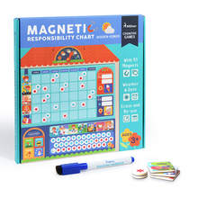 mideer MD2015 kid's wooden Magnetic responsibility chart habits record jigsaw puzzle early educational schedule cognitive toy
