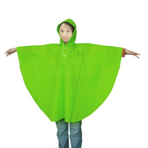 wholesale custom disposable printed PE/EVA rain poncho