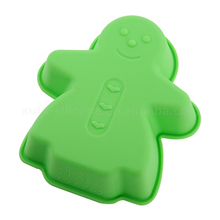 FDA green silicone bean jelly pan Foldable Rubber Pies Baking Mold For Kids