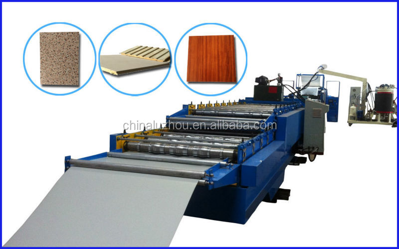 steel tile plate & roof wall panels foaming production line