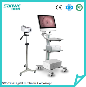 SW-3304 Digital Electronic Colposcope with Two Monitors , Gynecology Colposcope with Software, Digital Video Colposcope