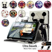 New Arrival Stylish Patterns Printed Wallet Stand PU Leather Flip Cover Case Universal Tablet Case 10.1 inch For BQ 1012G 10.1''