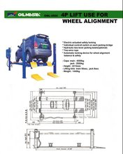 4 Post Car Lift use for Wheel Alignment