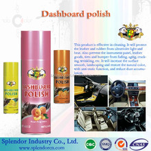 perfumed Dashboard polish wax or silicone spray/ spray dashboard polish