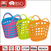 Lady plastic PE material supermarket felt shopping basket