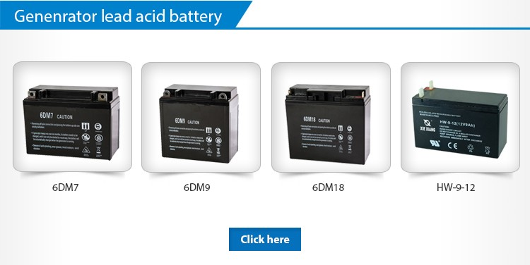 Rechargeable 6DM9 Starting Generator Battery