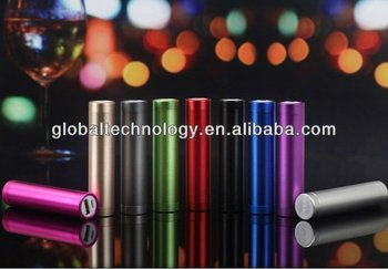 Colorful Hot selling 2200mah lipstick Portable Power Bank Tube Charger