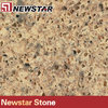 Newstar brown gold artificial quartz stone