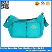 Wholesales online clear women washed nylon messenger bag