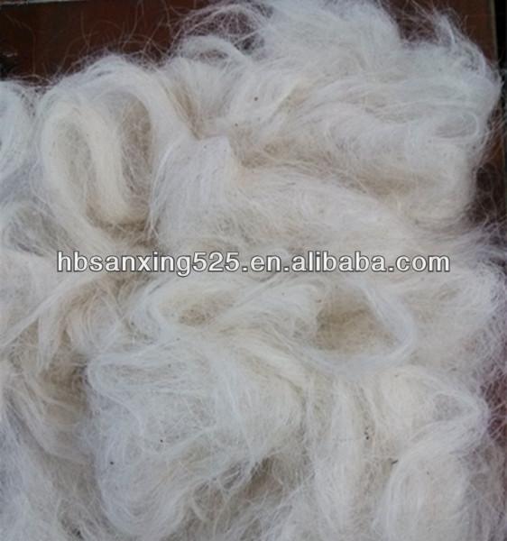 Super white scoured goat hair 50-80mm for felt and carpet.