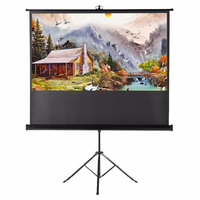 Easy carry projector Screen 60/110 inch Portable Indoor Outdoor movie Screen with Foldable Stand Tripod
