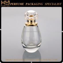 50ml antique small square perfume glass bottle with metal cap
