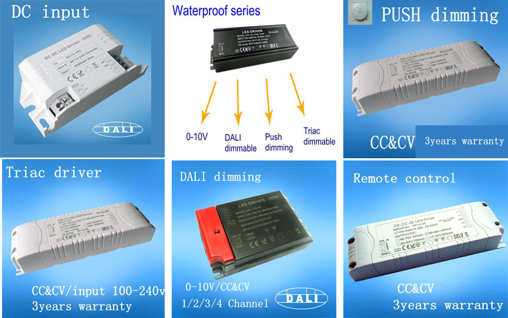 200W 0-10V dimmable led driver PF>0.95 Warranty 3 years
